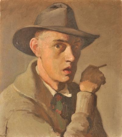 Carl  Schmitt, Self-Portrait, 1915