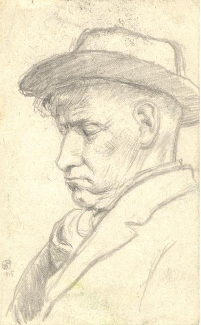 Pencil sketch, Naples, 1915