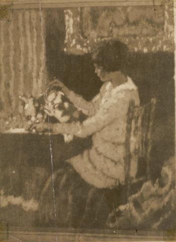 Girl Sitting (Tea) - CROPPED