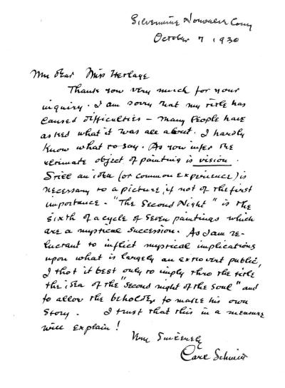 CFS letter to St Louis Art Museum - 7 Oct 1930 - CROPPED