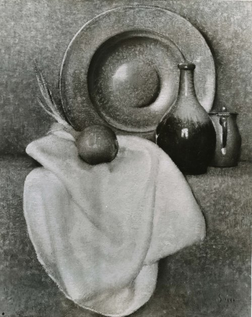 WPA 4 - Still Life (plate, bottle, onion , cloth) (from email) - NO BORDER