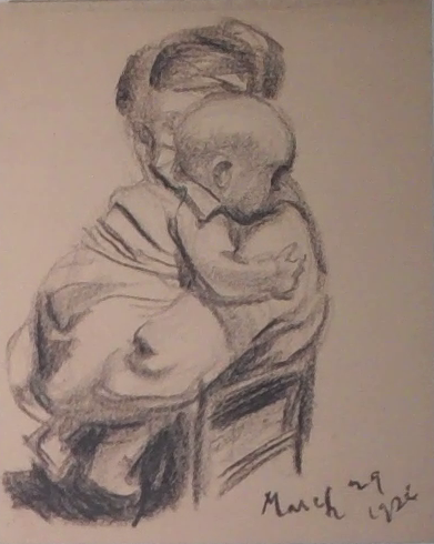 baby on Gertrude's shoulder - March 29 1926 - without dedication