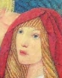 CSF12311 - detail of woman's head