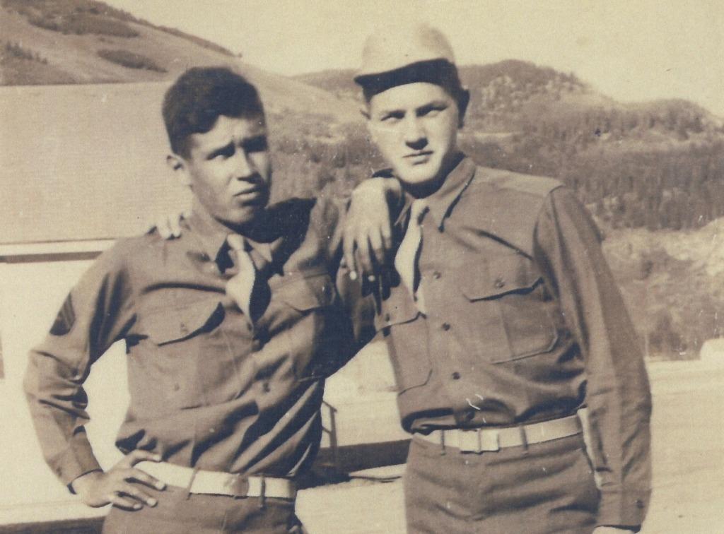 Peter and David Schmitt in uniform